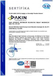 TS ISO 45001 2018 Is Sagligi ve Guvenligi Yonetim Sistemi | Akın Teknoloji